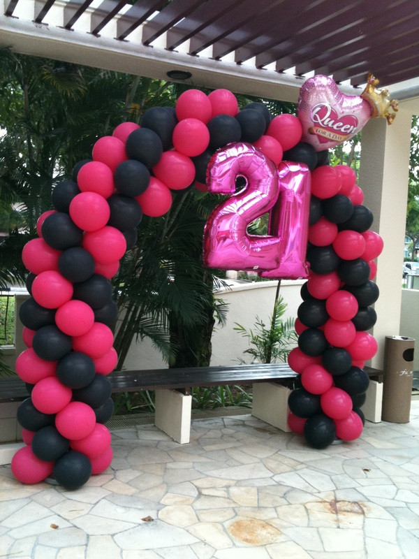 Best ideas about 21st Birthday Decorations . Save or Pin 21st Birthday party Balloon Ideas – BalloonParty – Blog Now.