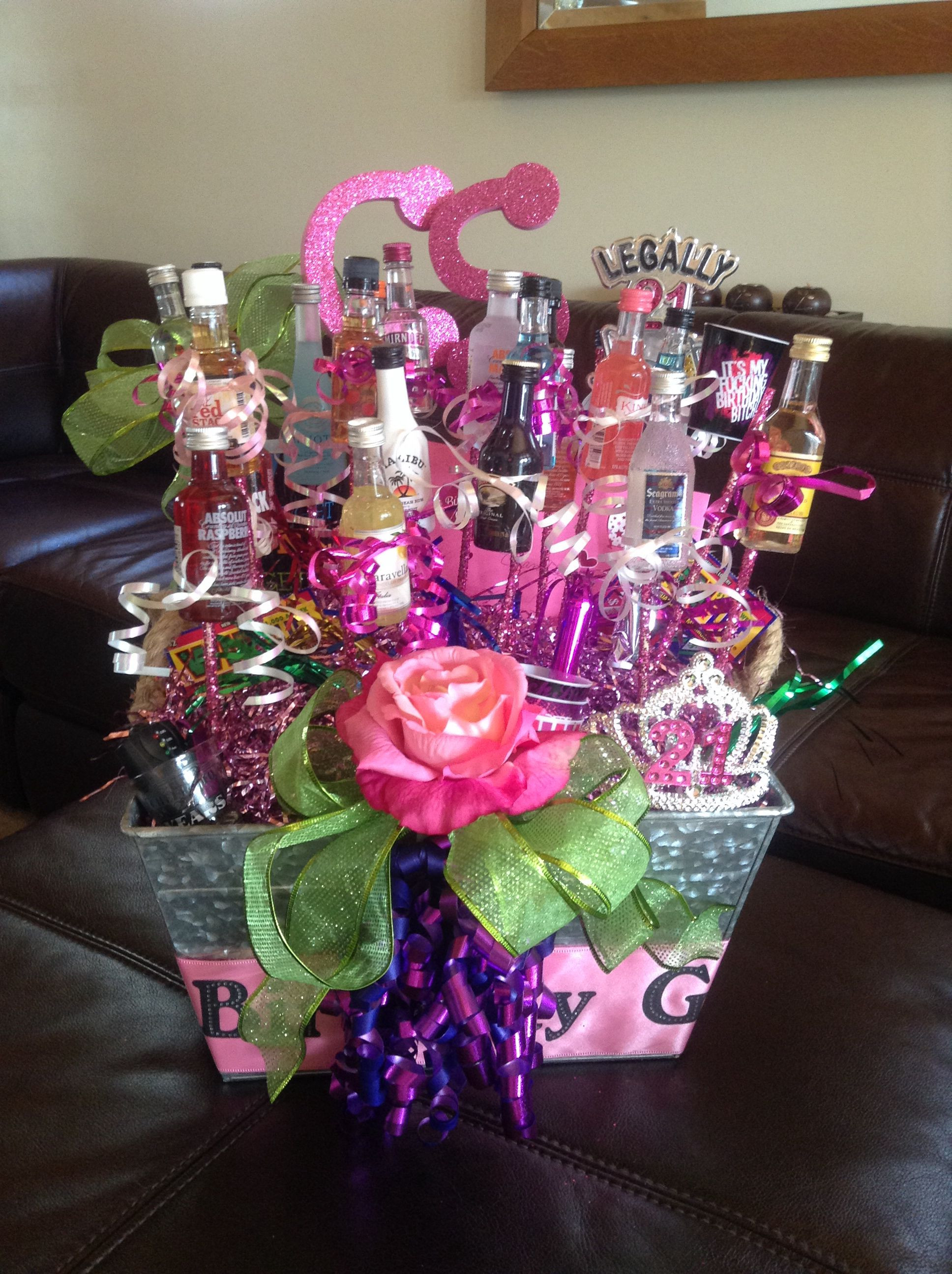 Best ideas about 21St Birthday Gift Ideas For Daughter . Save or Pin Happy 21st Birthday Gift Basket for my daughter Now.
