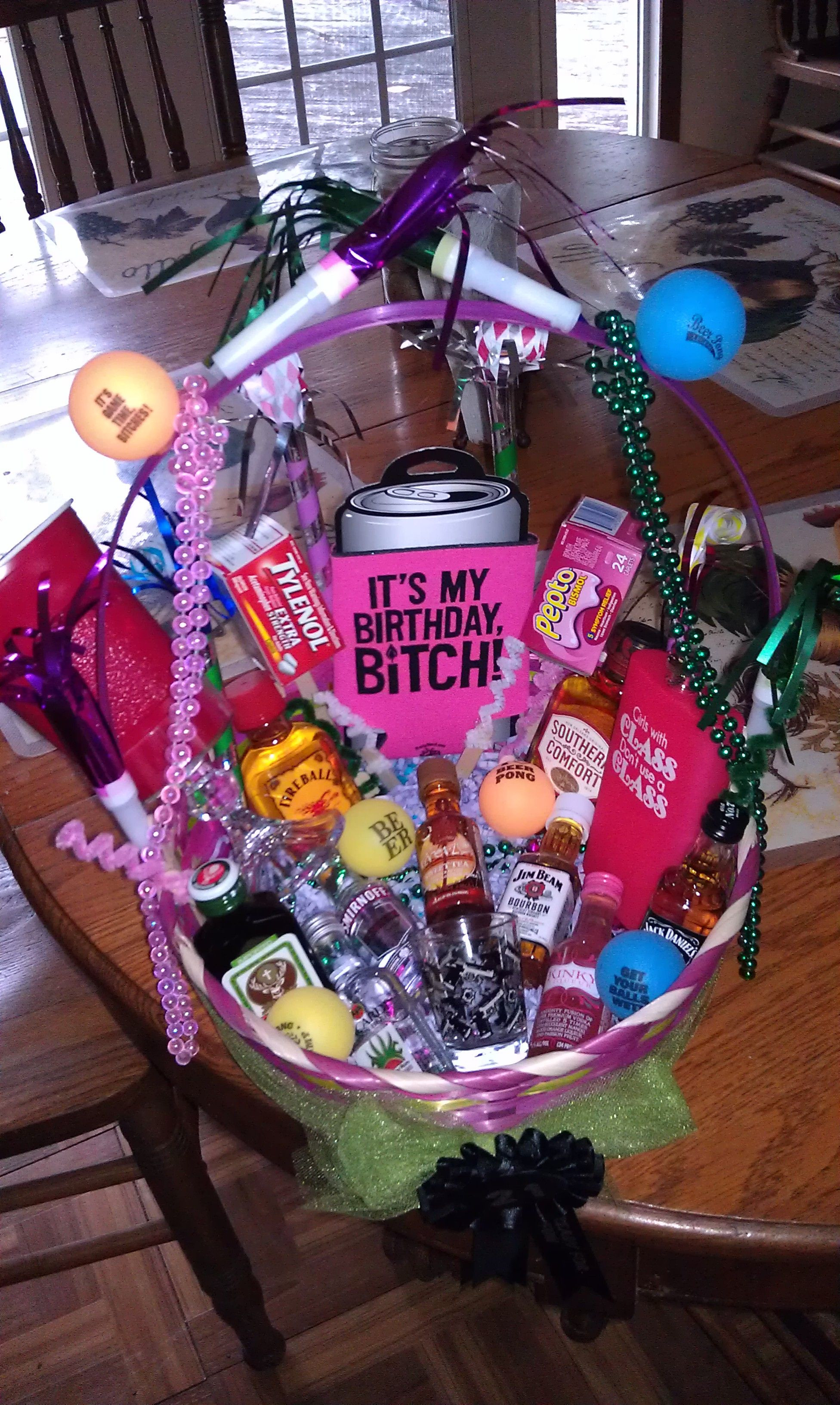 Best ideas about 21St Birthday Gift Ideas For Girlfriend . Save or Pin 21st birthday basket I want this I love it SOMEONE MAKE Now.