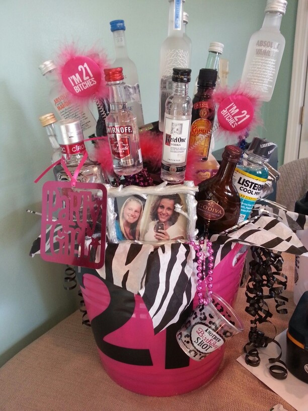 Best ideas about 21St Birthday Gift Ideas For Girlfriend . Save or Pin Best 25 Best friend birthday basket ideas on Pinterest Now.