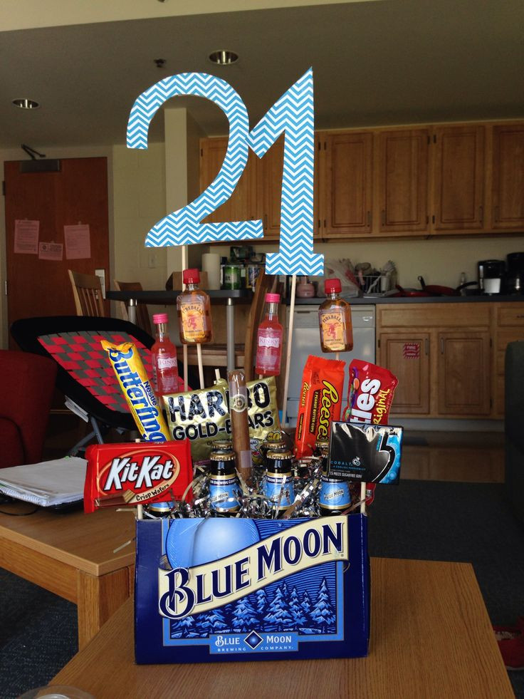 Best ideas about 21st Birthday Ideas For Him . Save or Pin 25 unique 21st birthday basket for girls ideas on Now.