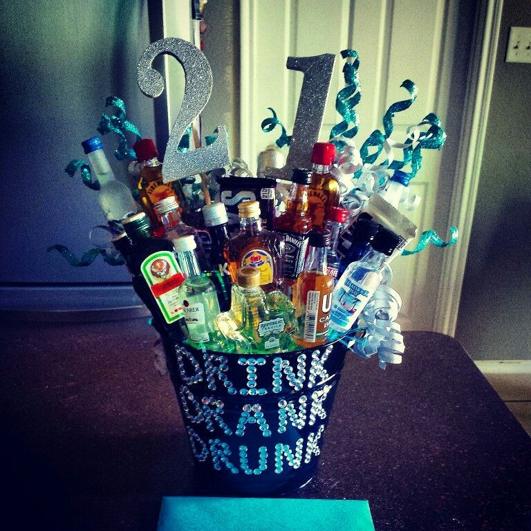 Best ideas about 21st Birthday Ideas For Him . Save or Pin 21st Birthday Alcohol Bouquet for Him Now.