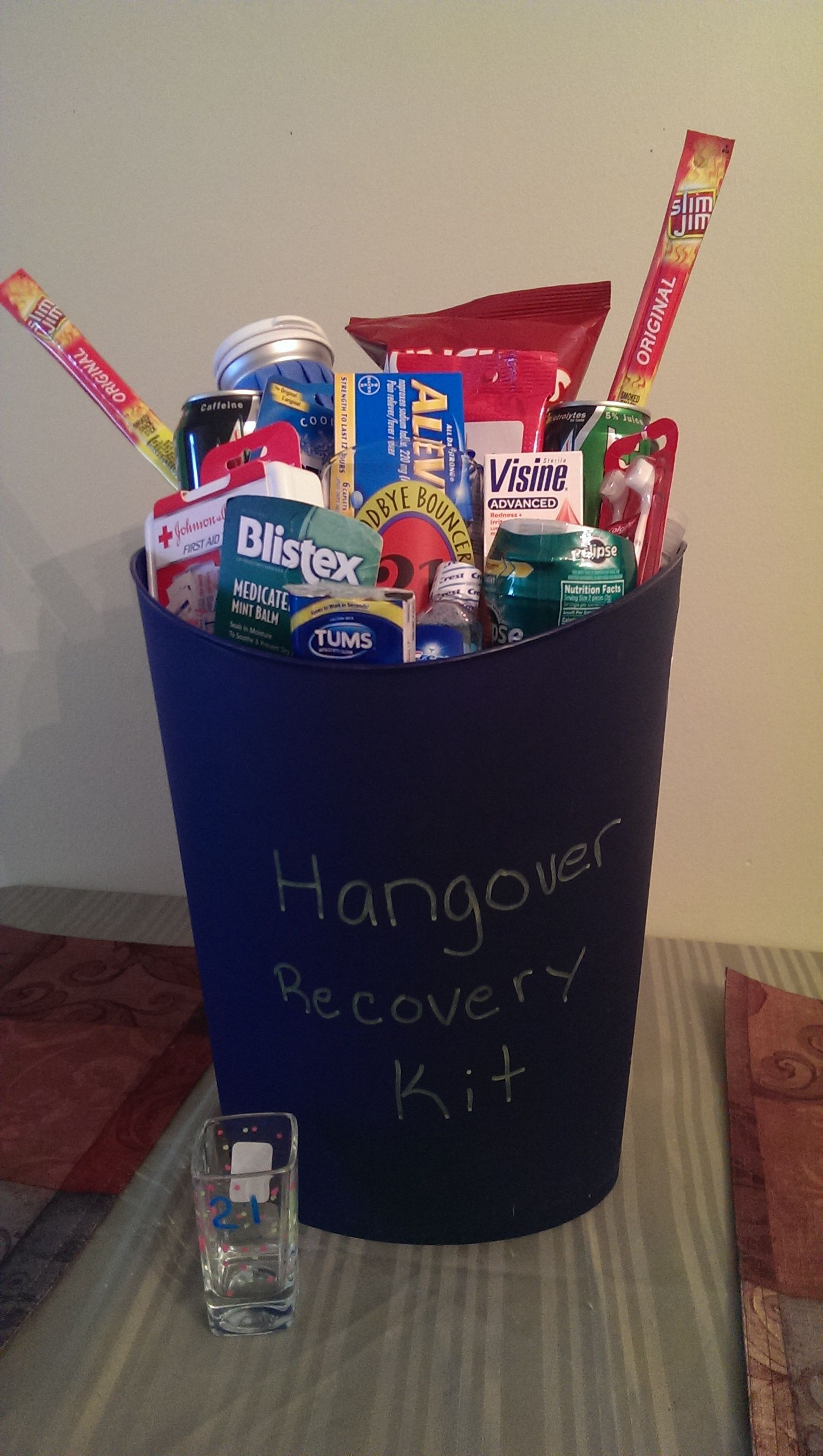 Best ideas about 21st Birthday Ideas For Him . Save or Pin My son s 21st birthday Recovery Kit that I made for him Now.