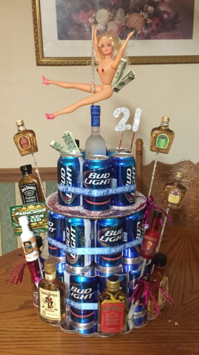 Best ideas about 21st Birthday Party Ideas For Guys . Save or Pin Beer can cake for 21st birthday Now.