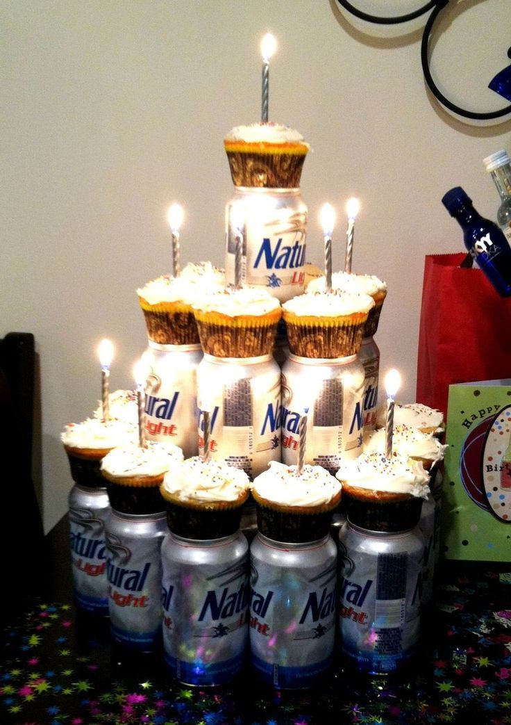 Best ideas about 21st Birthday Party Ideas For Guys . Save or Pin Cupcakes & your man s favorite beer Cute idea for my Now.