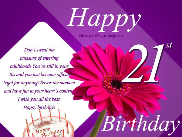 Best ideas about 21st Birthday Wishes For A Son . Save or Pin 21st Birthday Wishes Messages and Greetings Now.