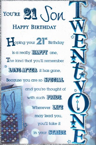 Best ideas about 21st Birthday Wishes For A Son . Save or Pin Quotes Son Is 21 QuotesGram Now.