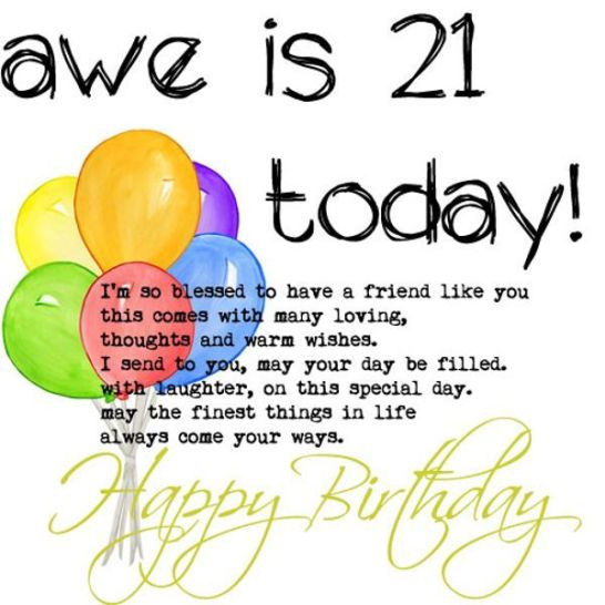 Best ideas about 21st Birthday Wishes . Save or Pin 114 EXCELLENT Happy 21st Birthday Wishes and Quotes BayArt Now.
