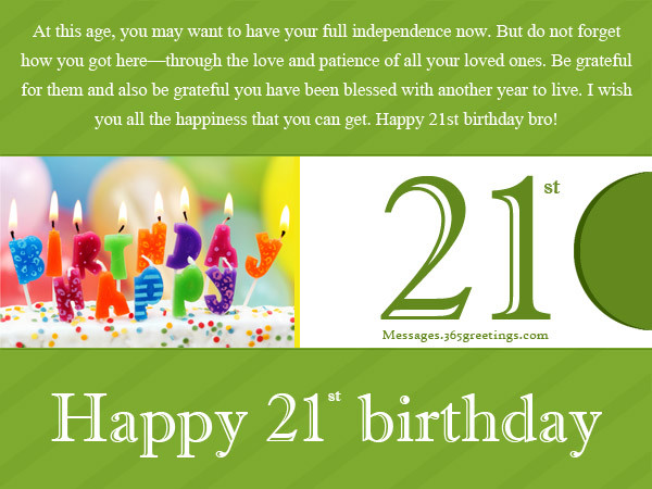 Best ideas about 21st Birthday Wishes . Save or Pin 21st Birthday Wishes Messages and Greetings Now.