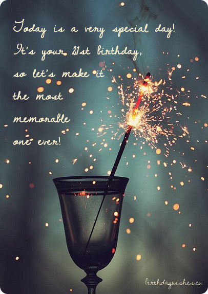 Best ideas about 21st Birthday Wishes . Save or Pin Happy 21st Birthday Wishes For Friend With Now.
