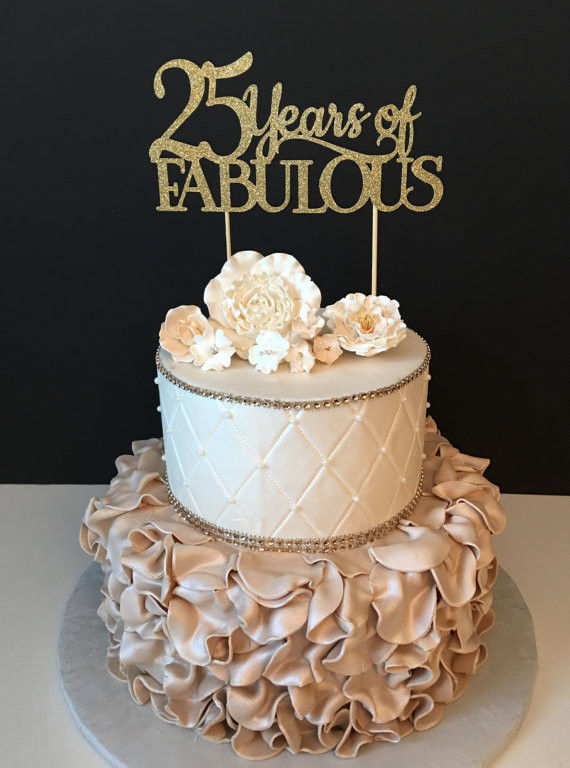 Best ideas about 25 Birthday Cake . Save or Pin Any Number Birthday Cake Topper Wedding Anniversary Cake Now.