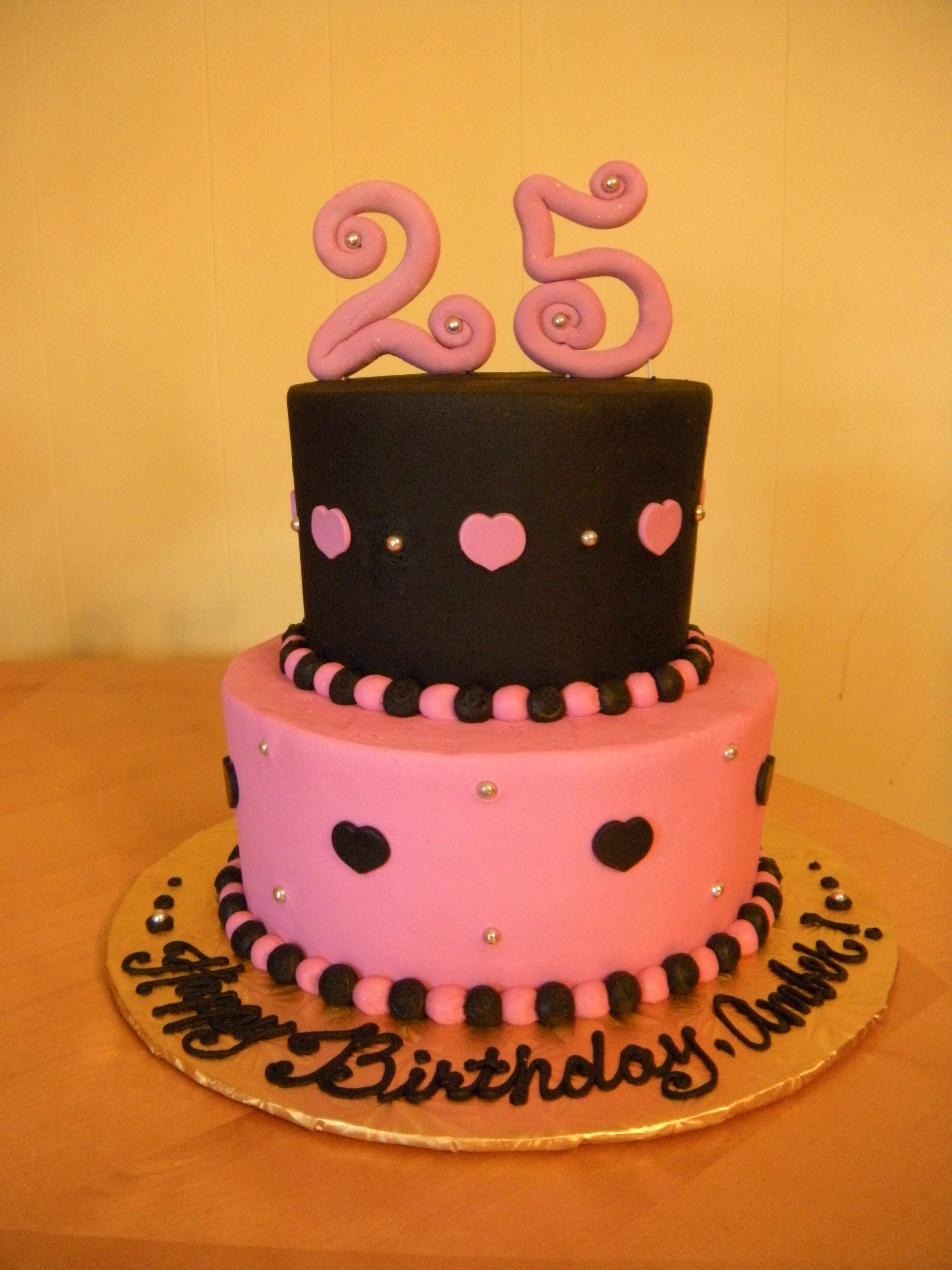 Best ideas about 25 Birthday Cake . Save or Pin 25th birthday cake Now.