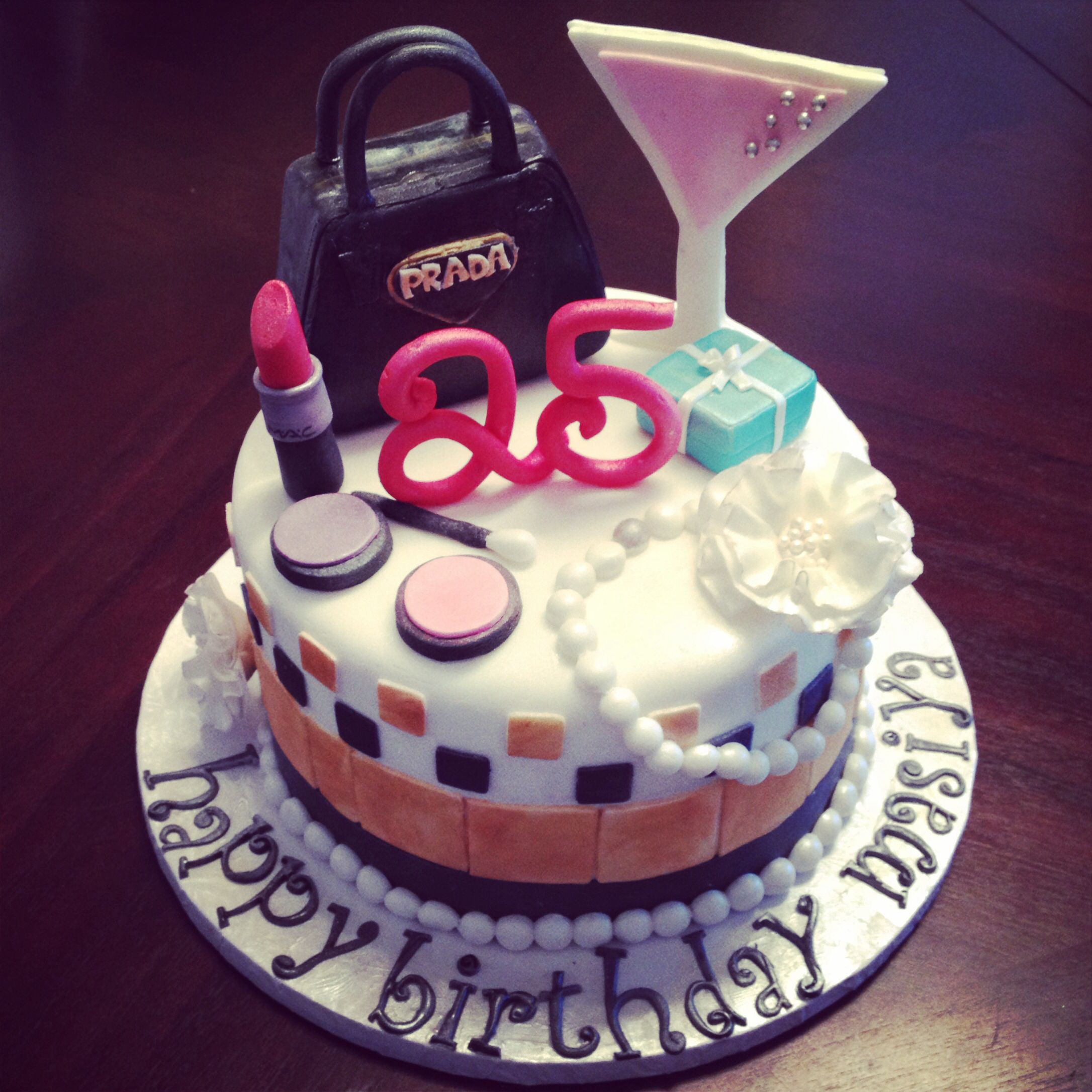 Best ideas about 25 Birthday Cake . Save or Pin Very girly 25th birthday cake All edible and handmade Now.