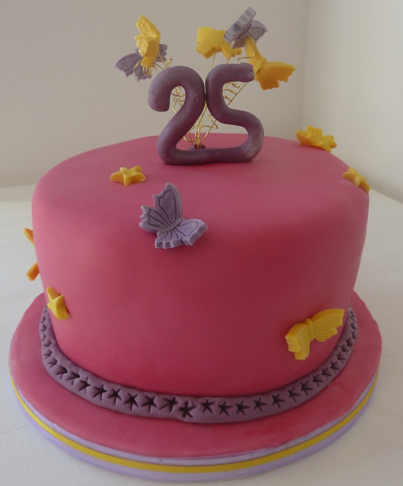 Best ideas about 25 Birthday Cake . Save or Pin 25th Birthday Cake – Whitley cakes Now.