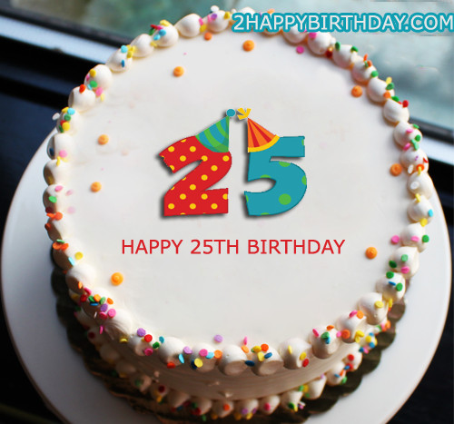Best ideas about 25 Birthday Cake . Save or Pin 25th Birthday Cake With Name Editor 2HappyBirthday Now.