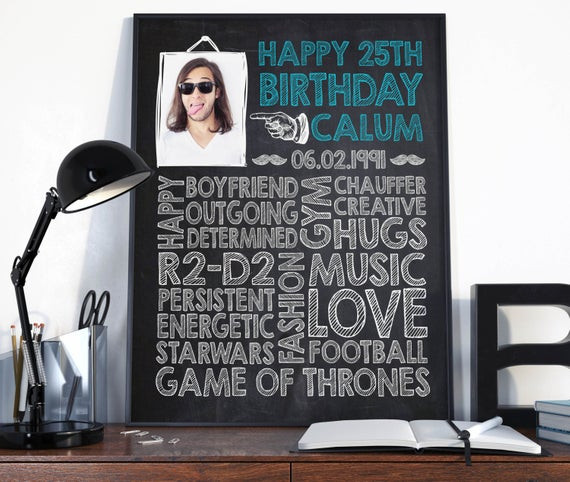Best ideas about 25Th Birthday Gift Ideas For Him . Save or Pin 25th birthday birthday t for him Birthday sign birthday Now.