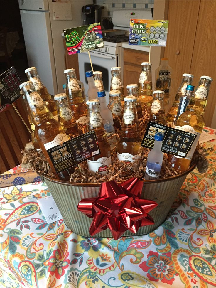 Best ideas about 25Th Birthday Gift Ideas For Him . Save or Pin Best 25 Birthday baskets for him ideas on Pinterest Now.