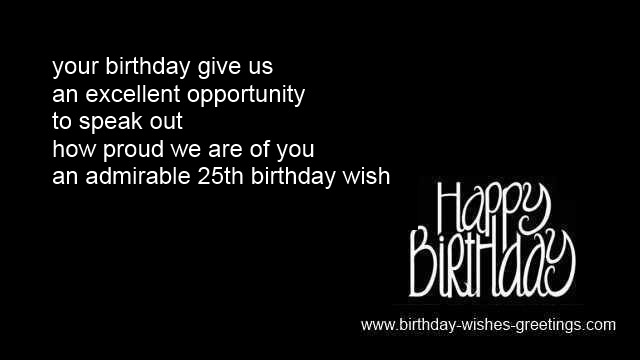 Best ideas about 25th Birthday Quotes . Save or Pin 25th birthday greetings best friend 25 year old bday wishes Now.