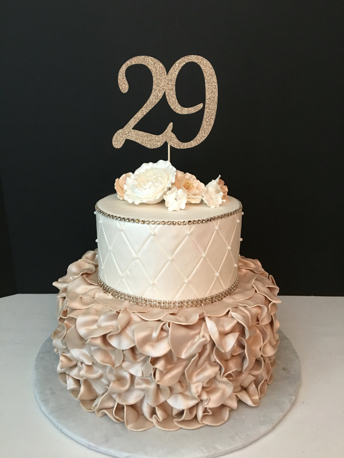 Best ideas about 29th Birthday Cake . Save or Pin ANY NUMBER Gold Glitter 29th Birthday Cake Topper number Now.