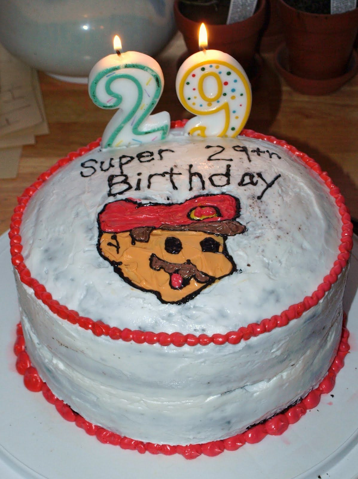 Best ideas about 29th Birthday Cake . Save or Pin Super Mario Birthday Cake for 29th birthday Now.
