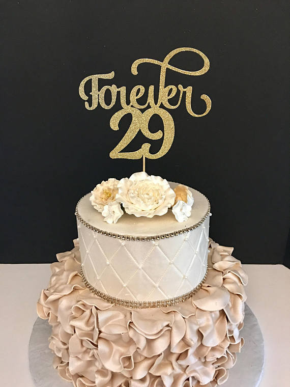 Best ideas about 29th Birthday Cake . Save or Pin Forever 29 Cake Topper 30th Birthday cake topper Now.