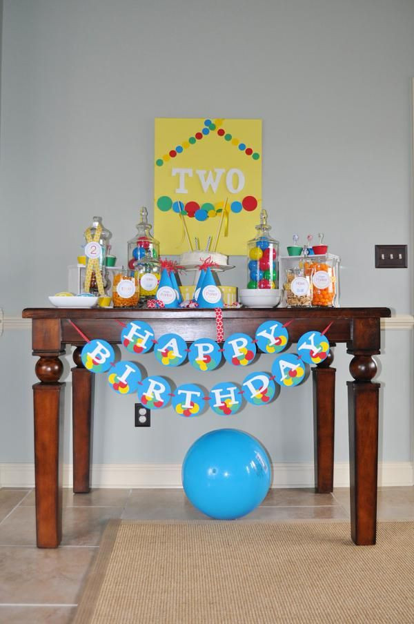 Best ideas about 2Nd Birthday Gift Ideas For Boys . Save or Pin Ball Toy Circle Themed Boy 2nd Birthday Party Planning Now.