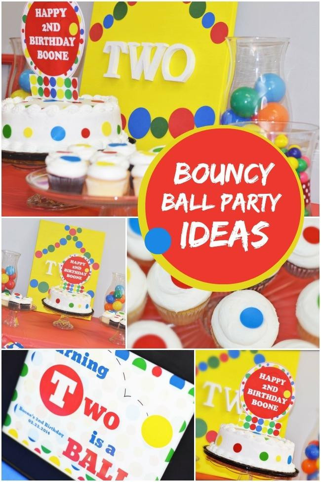 Best ideas about 2Nd Birthday Gift Ideas For Boys . Save or Pin A Bouncy Ball Themed Boy s 2nd Birthday Party Spaceships Now.