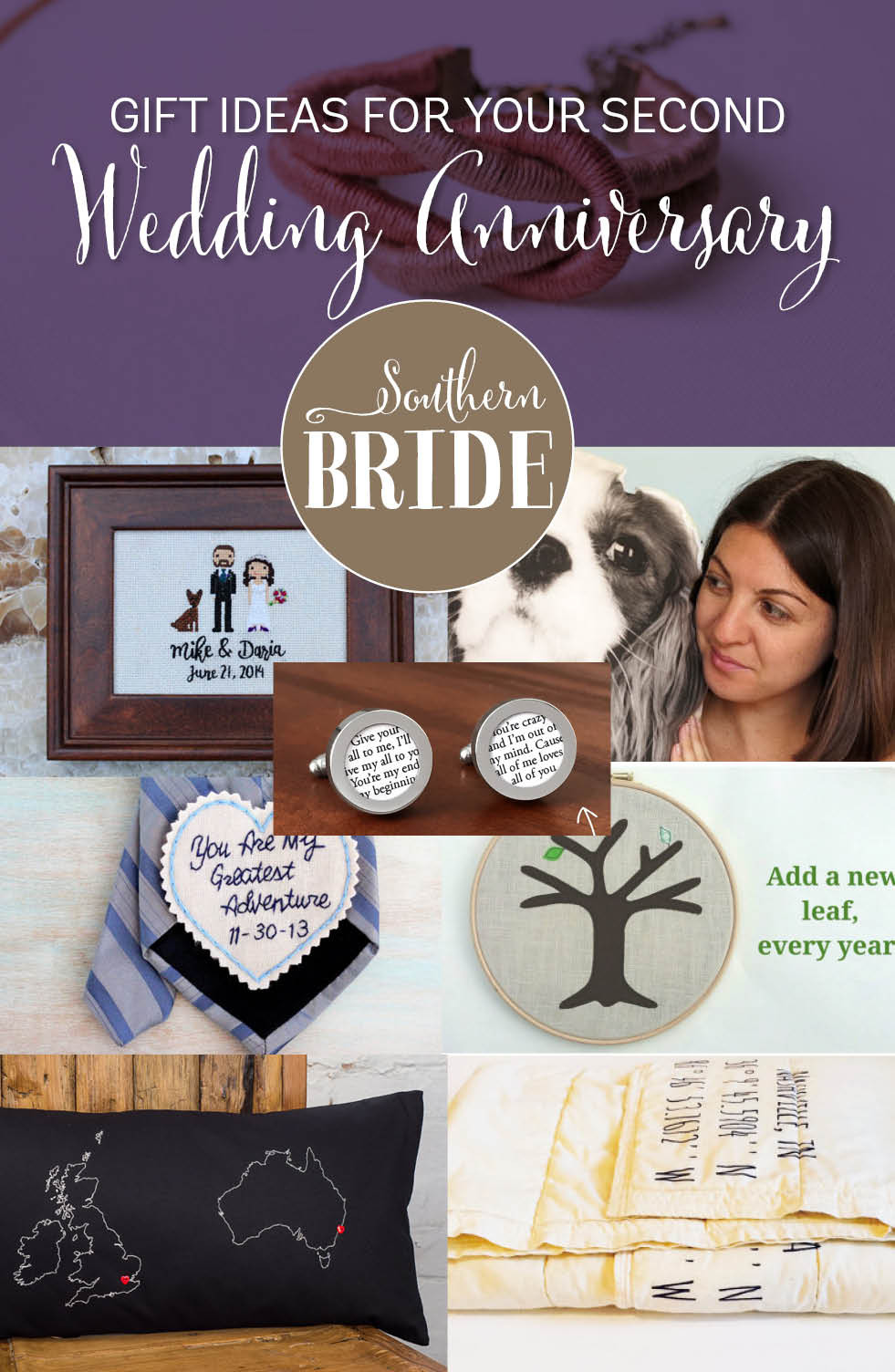 Best ideas about 2Nd Wedding Gift Ideas . Save or Pin Second wedding anniversary present ideas Southern Bride Now.
