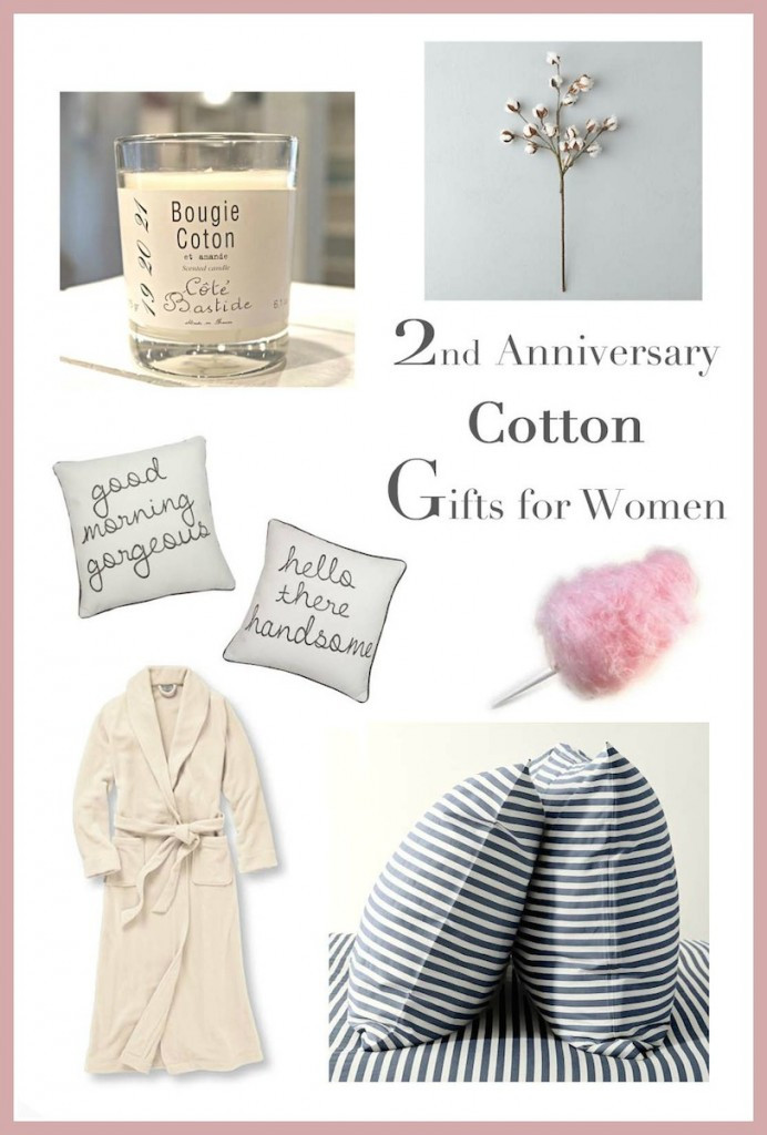 Best ideas about 2Nd Wedding Gift Ideas . Save or Pin 2nd Anniversary Gifts for Her — Runway Chef Now.