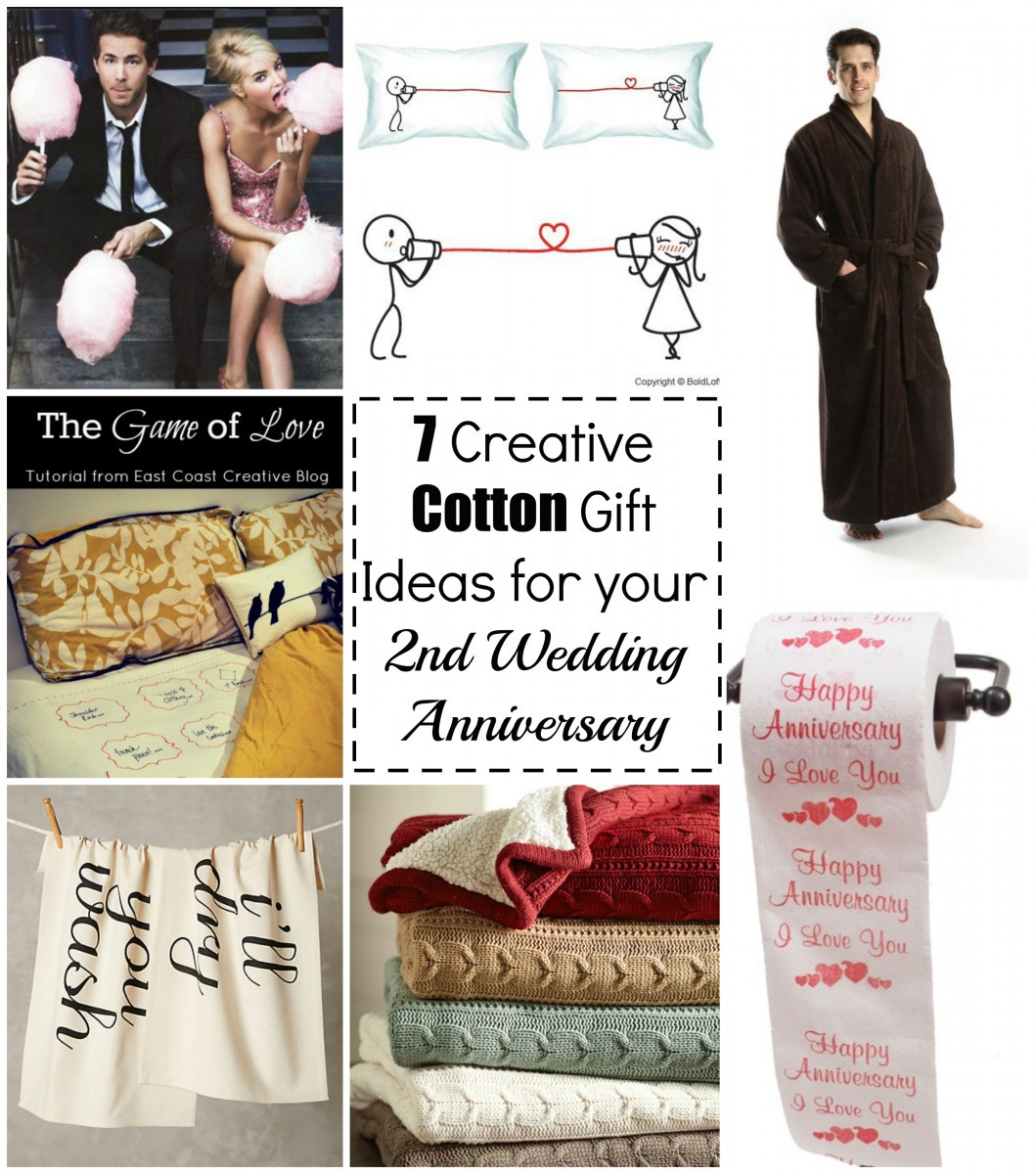 Best ideas about 2Nd Wedding Gift Ideas . Save or Pin 7 Cotton Gift Ideas for your 2nd Wedding Anniversary Now.