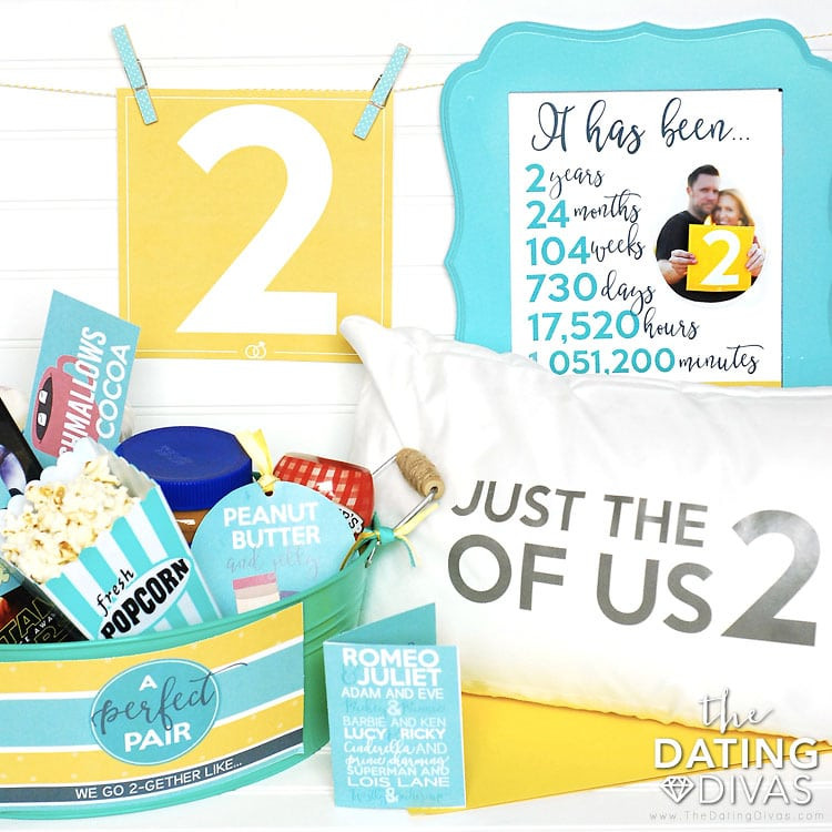 Best ideas about 2Nd Year Anniversary Gift Ideas . Save or Pin Second Anniversary Gift Printable Kit The Dating Divas Now.
