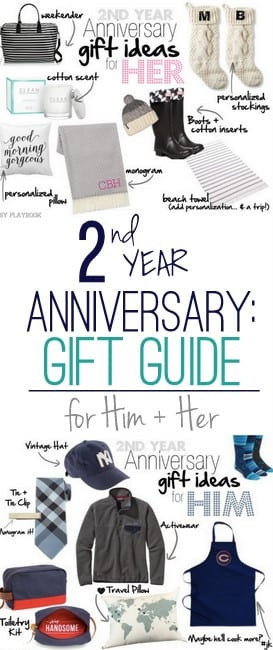 Best ideas about 2Nd Year Anniversary Gift Ideas . Save or Pin 2nd Wedding Anniversary Cotton Gift Ideas for Him and Her Now.