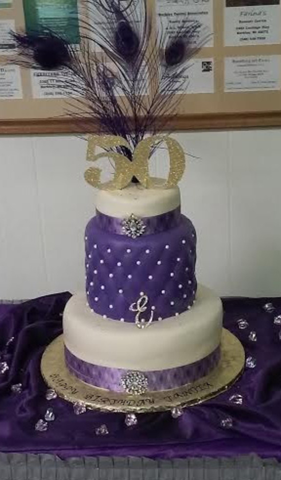 Best ideas about 3 Tier Birthday Cake . Save or Pin 3 Tier 50Th Birthday Cake With A Taller 2Nd Tier Now.