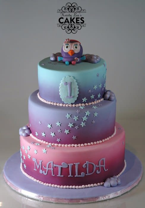 Best ideas about 3 Tier Birthday Cake . Save or Pin Hootabelle 3 Tier First Birthday Cake cake by Kristy How Now.