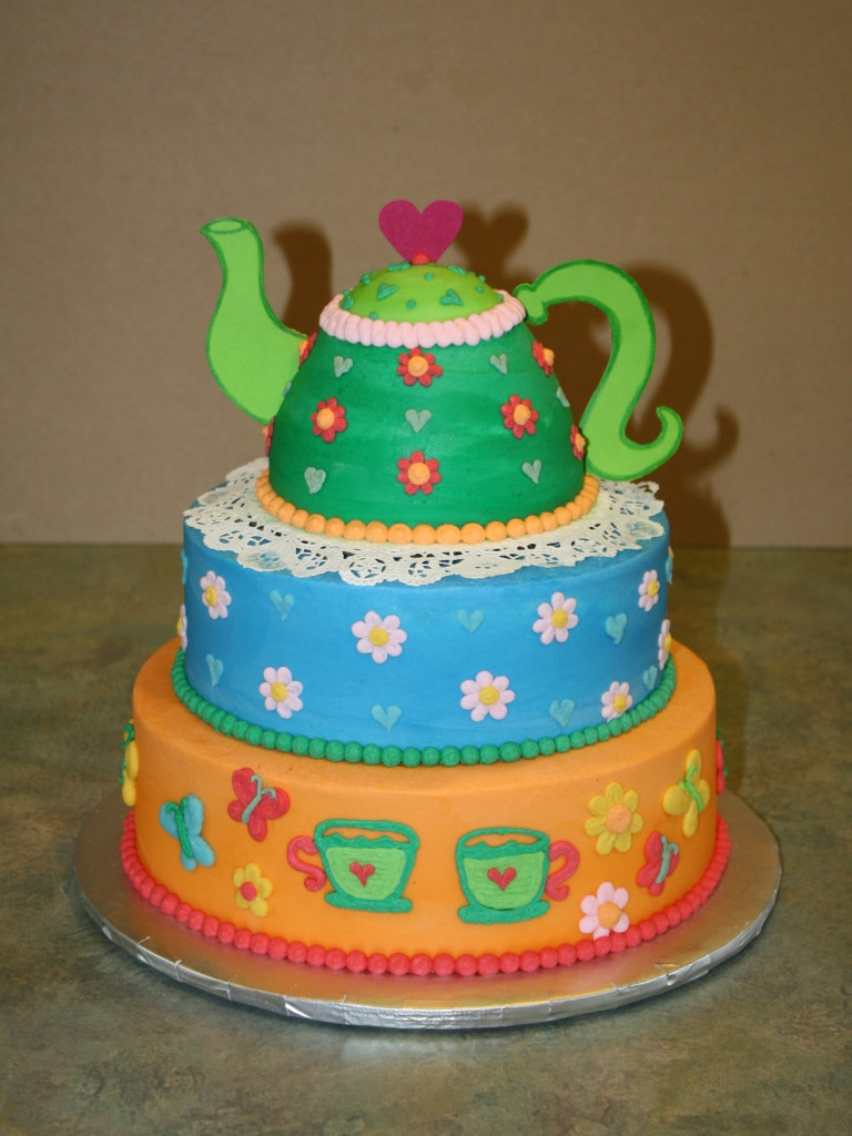 Best ideas about 3 Tier Birthday Cake . Save or Pin Party Cakes 3 Tier Teapot Birthday Cake Now.