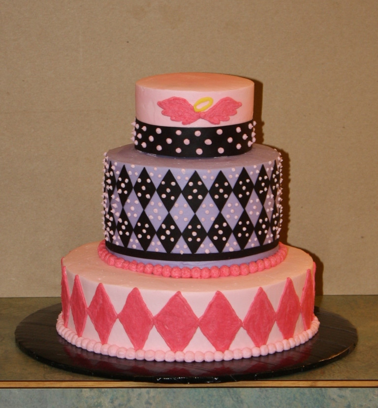 Best ideas about 3 Tier Birthday Cake . Save or Pin Party Cakes Argyle Lil Angel 3 Tier Birthday Cake Now.
