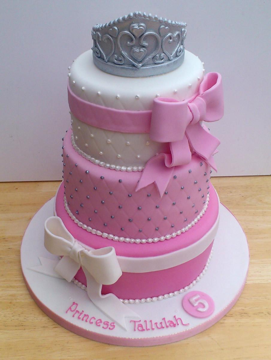 Best ideas about 3 Tier Birthday Cake . Save or Pin Princess Tiara 3 Tier Pretty Birthday Cake Susie s Cakes Now.