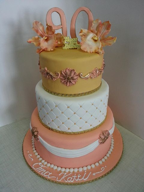 Best ideas about 3 Tier Birthday Cake . Save or Pin Three Tier 90th Birthday Cake Now.