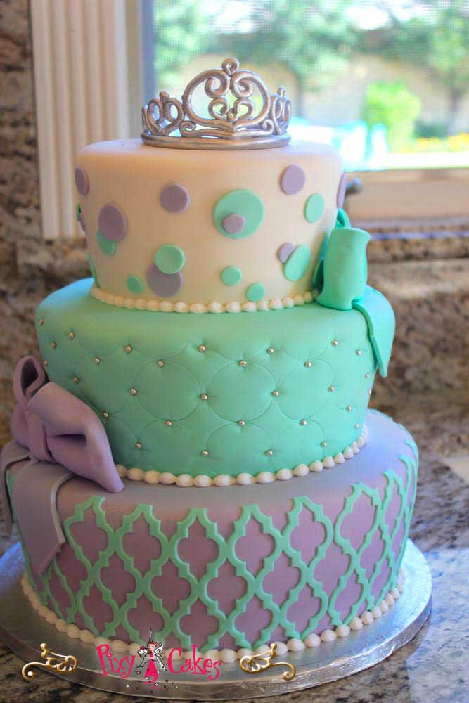Best ideas about 3 Tier Birthday Cake . Save or Pin 1000 ideas about Purple Birthday Cakes on Pinterest Now.