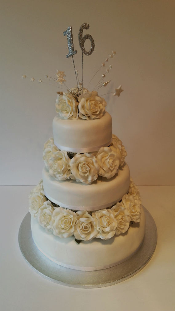 Best ideas about 3 Tier Birthday Cake . Save or Pin 16th birthday 3 tier flower cake Quality Cake pany Now.
