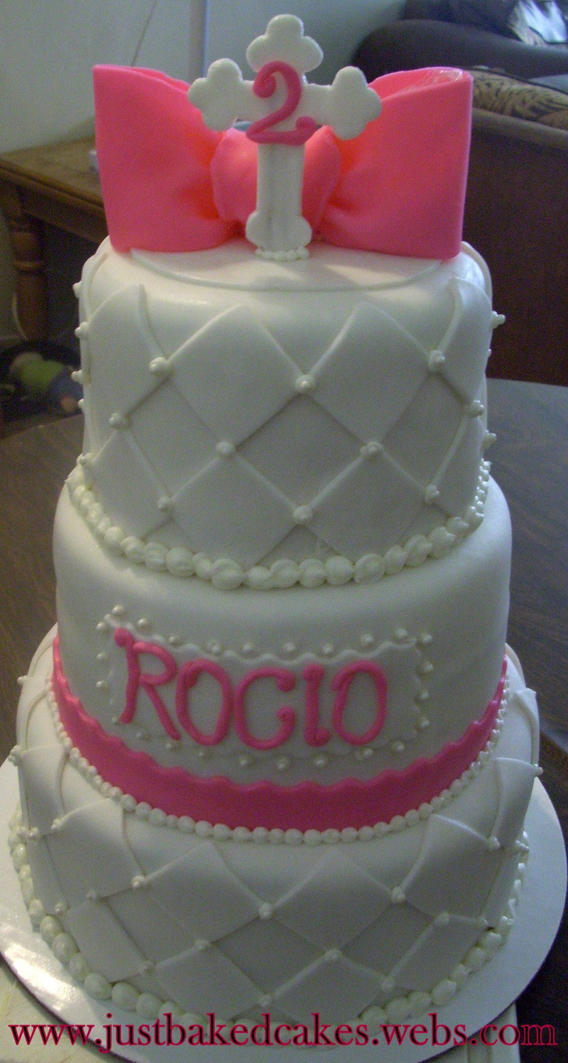 Best ideas about 3 Tier Birthday Cake . Save or Pin 3 Tier Baptism Birthday Cake Now.