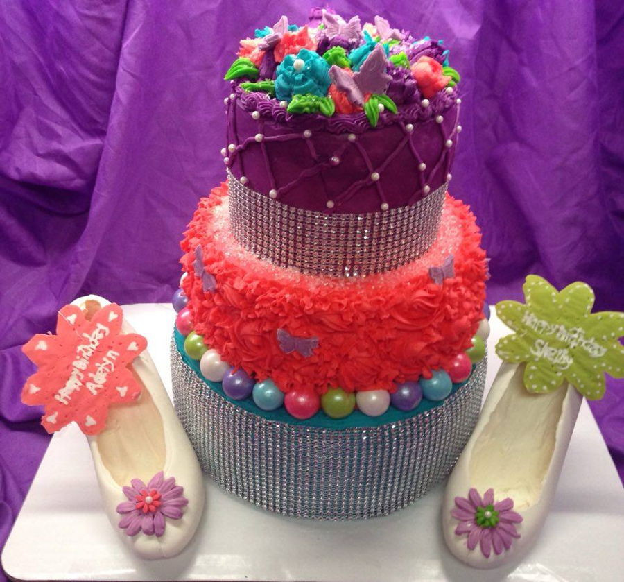 Best ideas about 3 Tier Birthday Cake . Save or Pin 3 Tier Girly Birthday Cake CakeCentral Now.