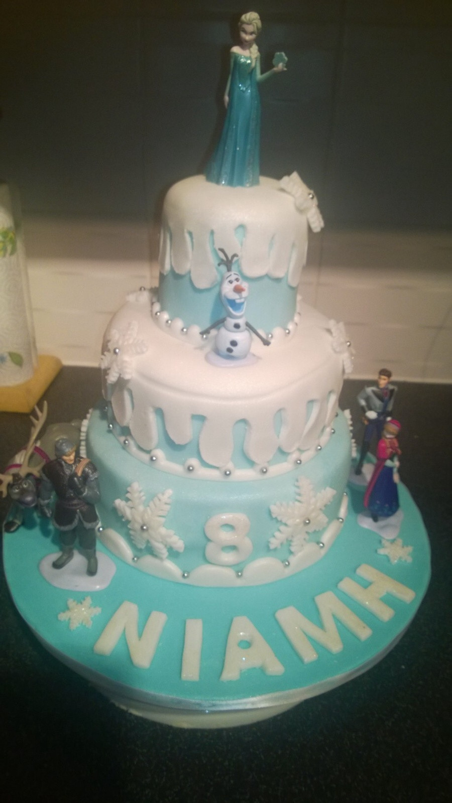 Best ideas about 3 Tier Birthday Cake . Save or Pin Disney Frozen 3 Tier Birthday Cake CakeCentral Now.