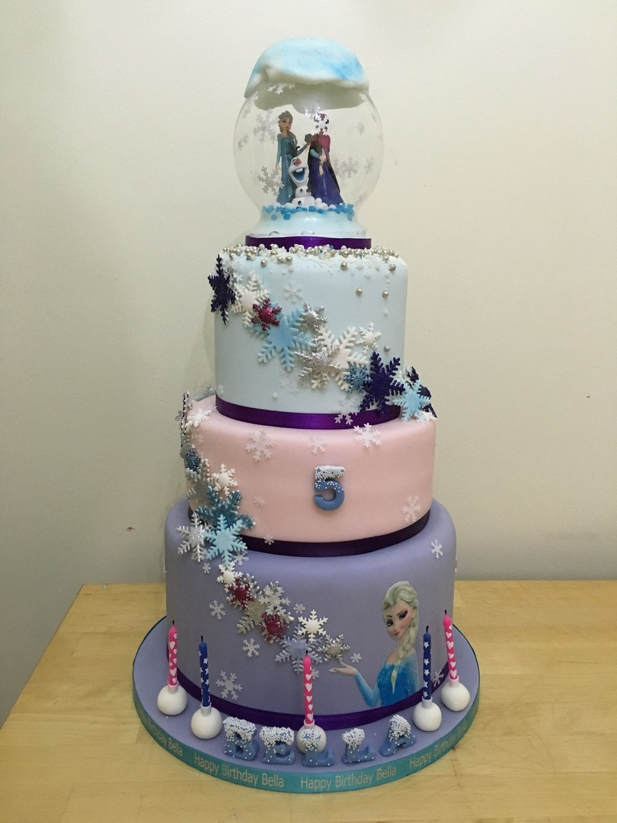 Best ideas about 3 Tier Birthday Cake . Save or Pin Frozen 3 Tier Cake CakeCentral Now.