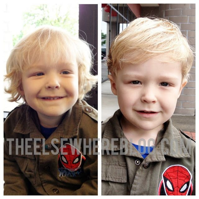 Best ideas about 3 Year Old Boys Haircuts . Save or Pin Toddler boy hair cut before after 3 year old hair cut Now.