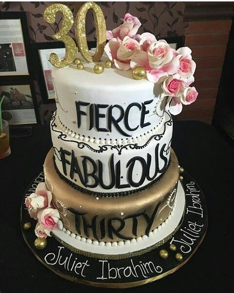 Best ideas about 30th Birthday Cake Ideas . Save or Pin See Juliet Ibrahim Massive 30th Birthday Cake Made In Now.