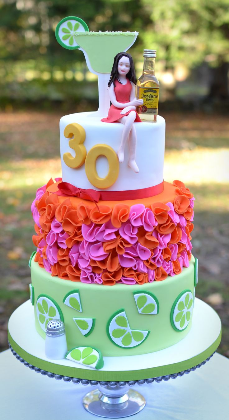 Best ideas about 30th Birthday Cake Ideas . Save or Pin Margarita and tequila themed 30th birthday cake Now.