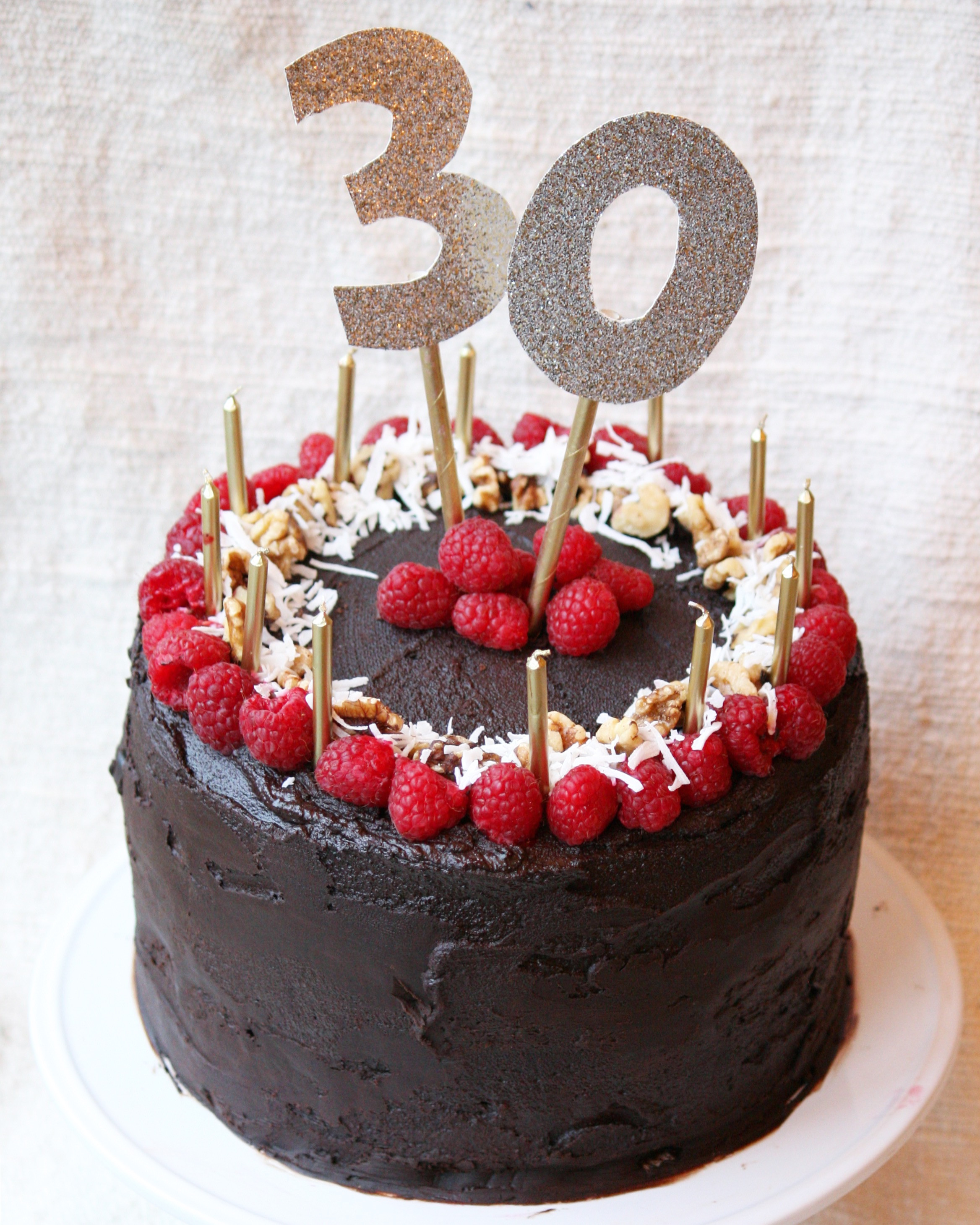 Best ideas about 30th Birthday Cake Ideas . Save or Pin My 30th Birthday Cake the whole food diary Now.