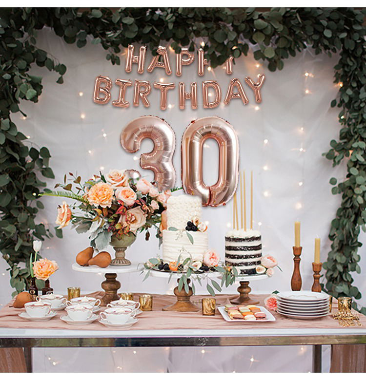 Best ideas about 30th Birthday Decorations . Save or Pin Happy 30th Birthday Decorations Rose Gold Balloons Now.