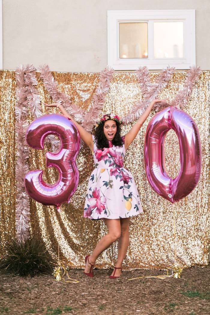 Best ideas about 30th Birthday Decorations . Save or Pin Kara s Party Ideas Sparkly 30th Birthday Bash Now.